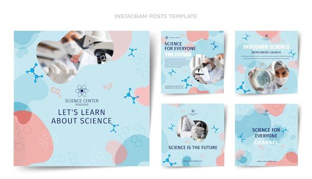 Publications instagram de science du design plat