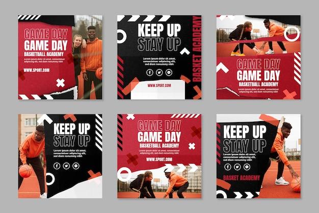 Publications instagram de sport dégradé