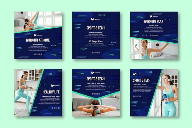 Publications instagram sportives et technologiques