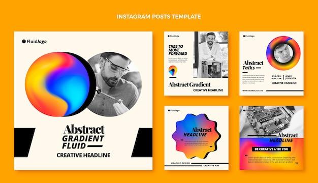 Publications instagram de technologie de fluide abstrait dégradé
