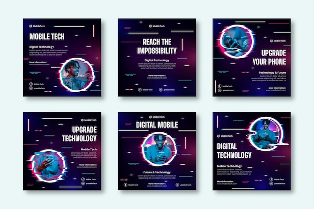 Publications instagram de technologie mobile