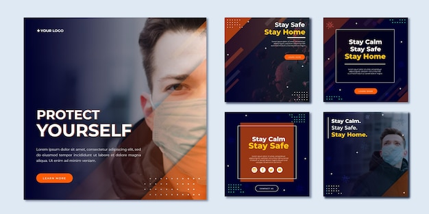 Publications sur les réseaux sociaux sur le coronavirus
