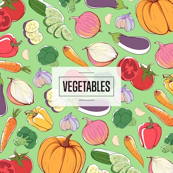 Publicité dans les supermarchés de légumes écologiques naturels