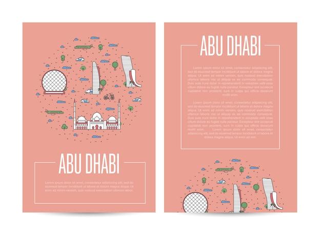 Publicité itinérante dans la ville d'abou dhabi