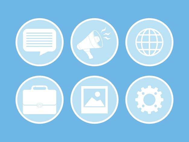 Publicité numérique et marketing icône vector illustration graphisme