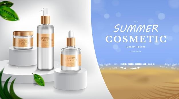 Publicité pour crème solaire et spray
