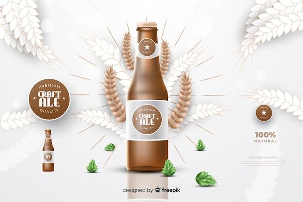 Publicité réaliste sur la bière