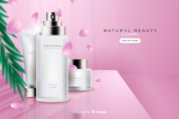 Publicité réaliste à la crème