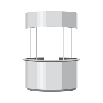 Publicité ronde poi pos. affichage de barre de stand de vente au détail avec auvent de toit