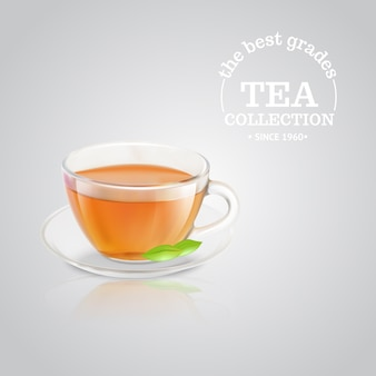 Publicité de tasse de thé