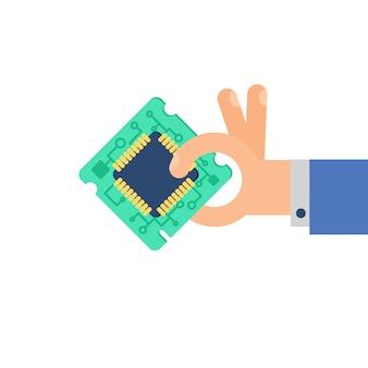 Puce de processeur informatique