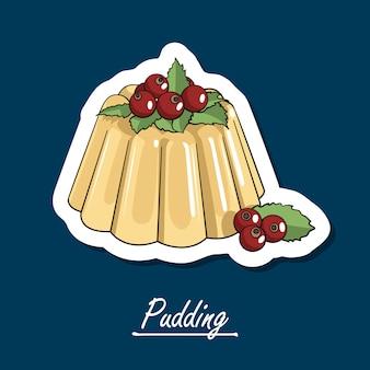 Pudding dessiné à la main