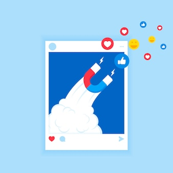 Le puissant du marketing d'influence est comme le champ magnétique