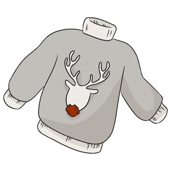 Pull hiver hipster de cerf de noël