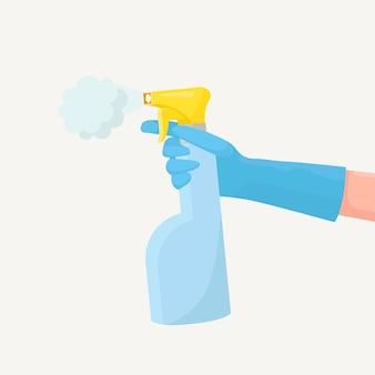 Pulvériser un spray désinfectant antibactérien pour éviter les rhumes