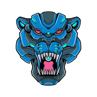 Puma tiger logo mecha concept illustration
