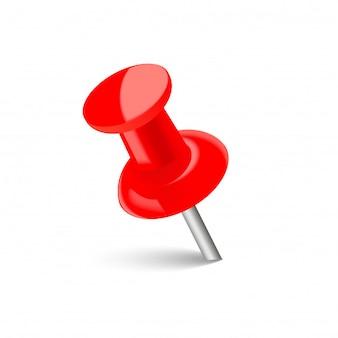 Punaise rouge réaliste avec ombre douce