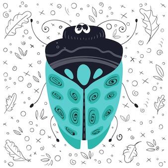 Punaise ou scarabée de vecteur