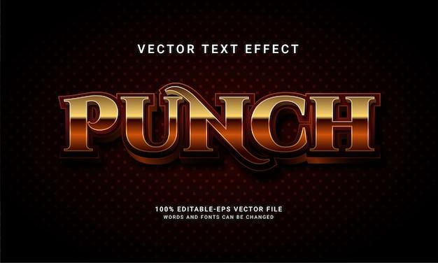 Punch effet de texte modifiable