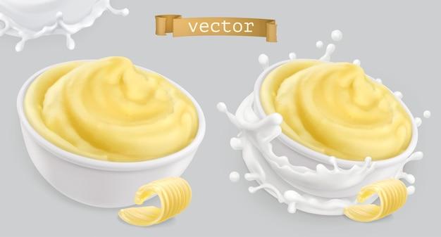 Purée de pommes de terre instantanée, avec du beurre et du lait.