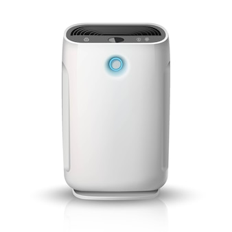 Purificateur d'air, sur l'icône illustration fond blanc. dispositif de nettoyage et d'humidification de l'air pour la maison.