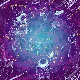 Purple space background design