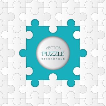 Puzzle abstrait de vecteur