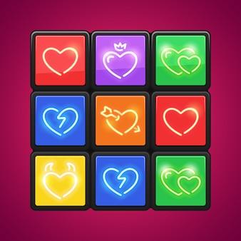 Puzzle cube avec amour