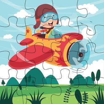 Puzzle game illustration for children