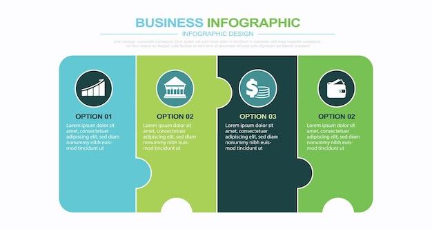 Puzzle infographie étapes stock illustration jigsaw piece puzzle numéro 4 infographie