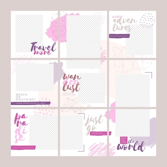 Puzzle instagram girly pour voyager