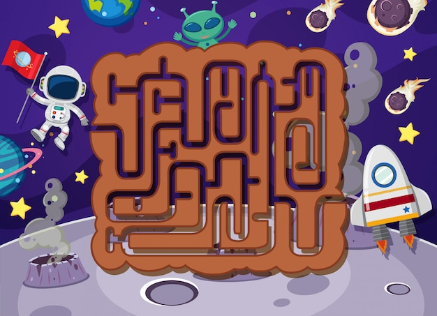 Puzzle labyrinthe dans l'espace