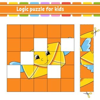 Puzzle logique pour les enfants. feuille de travail de développement de l'éducation.
