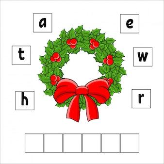 Puzzle de mots. couronne. feuille de travail pour le développement de l'éducation. jeu d'apprentissage pour les enfants.