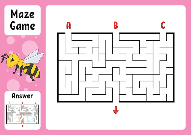 Puzzle pour les enfants. énigme du labyrinthe.