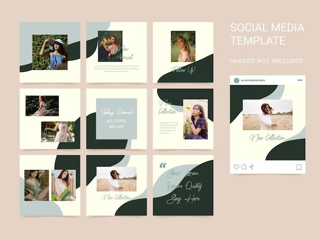 Puzzle style moderne de modèle de médias sociaux