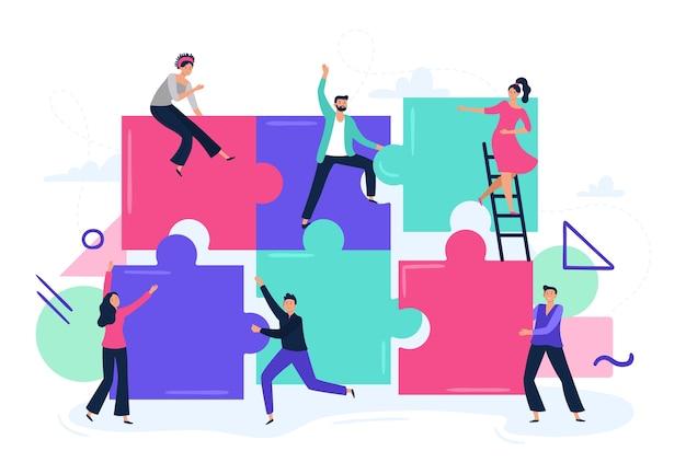 Puzzle travail d'équipe