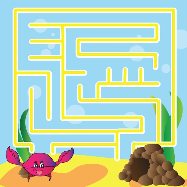 Puzzle de vecteur pour les enfants - la vie marine