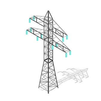 Pylône de puissance haute tension. tour de transmission.