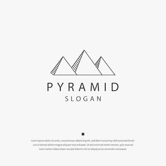Pyramide polygonale logo icône modèle de conception vecteur plat