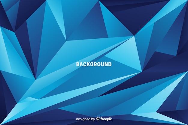 Pyramides abstraites sur fond de tons bleus