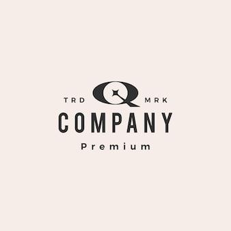 Q lettre étoile hipster logo vintage