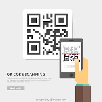 Qr code fond