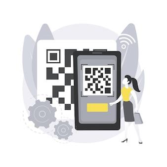 Qr code. générateur qr en ligne, lecture de code qr, technologie moderne d'entrepôt, systèmes de gestion d'inventaire automatisés, informations sur les produits.