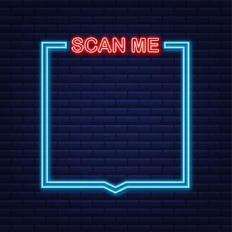 Qr code pour application mobile, paiement et téléphone. scanne moi.