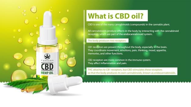 Qu'est-ce que l'huile de cbd, utilisations médicales de l'huile de cbd de plante de cannabis