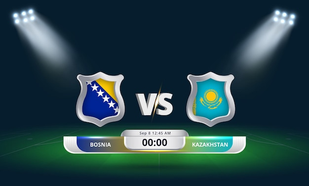 Qualification pour la coupe du monde de la fifa 2022 bosnie vs kazakhstan match de football