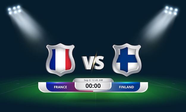 Qualification pour la coupe du monde de la fifa 2022 france vs finlande match de football