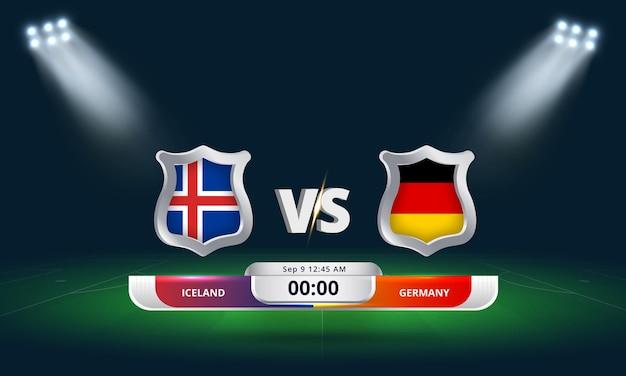 Qualification pour la coupe du monde de la fifa 2022 islande vs allemagne match de football