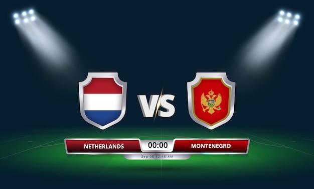 Qualification pour la coupe du monde de la fifa 2022 pays-bas vs monténégro match de football